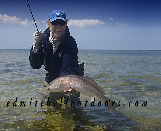"Dave with a ""heave"" and ""leave"" redfish"
