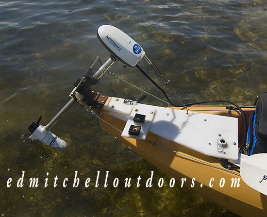 Watersnake Electric Trolling Motor installed