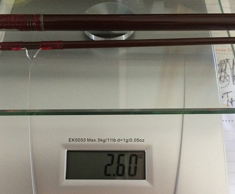 The SF Winston weighs 2.6 ounces