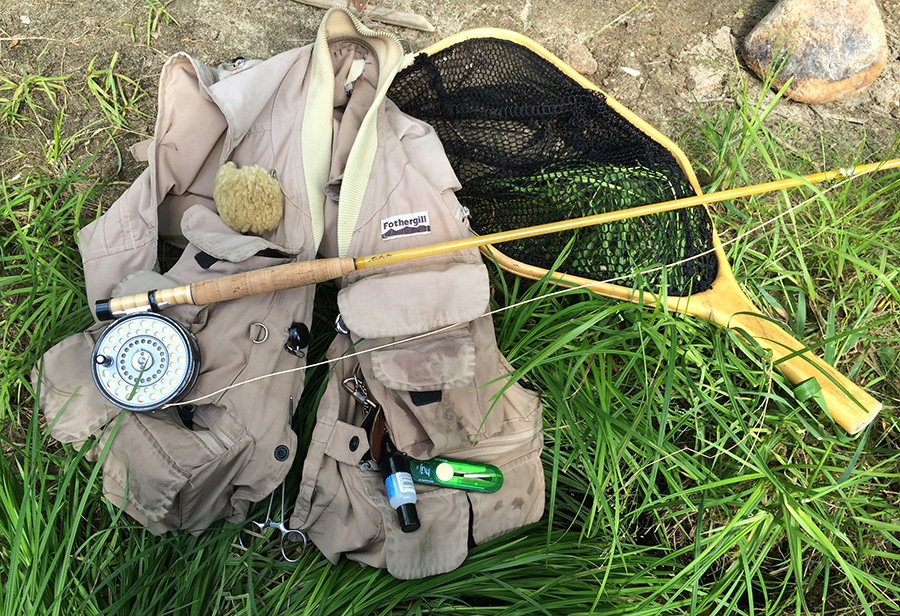 My Vest and a Kabuto Fly Rod