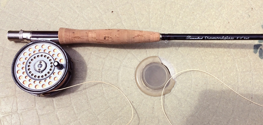 A Diamondglass 8-foot, 4-weight fly rod